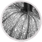 Pumpkin Pumpkin Black And White Round Beach Towel