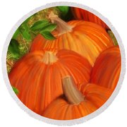 Pumpkins Pumpkins Everywhere Round Beach Towel
