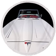 Pure Enjoyment - 1964 Corvette Stingray Round Beach Towel by Gill Billington