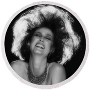 Round Beach Towel featuring the photograph Pure Joy by Mark Greenberg
