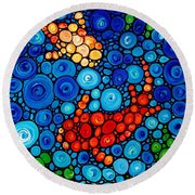 Pure Koi Joi Round Beach Towel