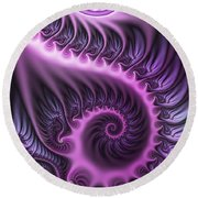 Purple And Friends Round Beach Towel