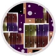 Purple Blitz Round Beach Towel