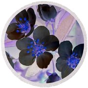 Purple Blue And Gray Round Beach Towel
