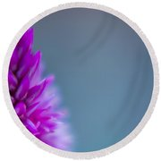 Round Beach Towel featuring the photograph Purple Blur by Steven Santamour
