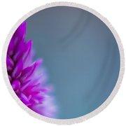 Purple Blur Round Beach Towel