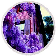 Round Beach Towel featuring the photograph Purple Cheer by Zafer Gurel