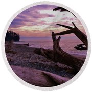 Purple Dreams In Bc Round Beach Towel by Barbara St Jean
