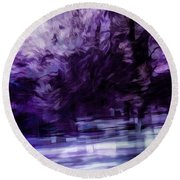 Purple Fire Round Beach Towel