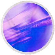 Round Beach Towel featuring the photograph Purple Haze by Alex Lapidus