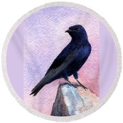 Purple Martin Round Beach Towel