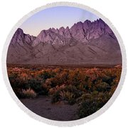 Purple Mountain Majesty Round Beach Towel