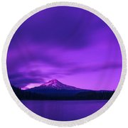 Purple Mountain Majesty Round Beach Towel by Lori Grimmett
