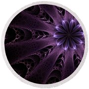 Round Beach Towel featuring the digital art Purple Passion by GJ Blackman