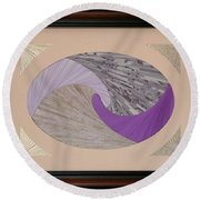 Round Beach Towel featuring the mixed media Purple Passion by Ron Davidson