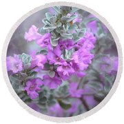 Purple Sage Round Beach Towel by Deb Halloran