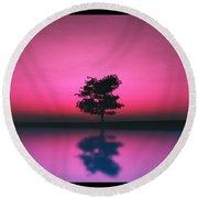 Purple Sky... Round Beach Towel