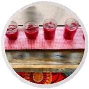 Putting Up Preserves Round Beach Towel by Michelle Calkins