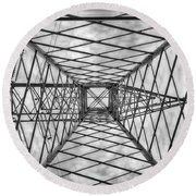 Round Beach Towel featuring the photograph Pylon by Howard Salmon