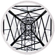 Round Beach Towel featuring the photograph Pylon by Nina Ficur Feenan
