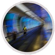 Round Beach Towel featuring the photograph Quantum Tunneling by Alex Lapidus