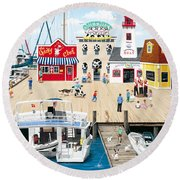 Quartet At The Quay Round Beach Towel