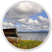 Round Beach Towel featuring the photograph Quartz Lake by Cathy Mahnke