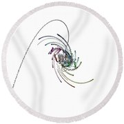 Quaternionic Blow 1 Round Beach Towel