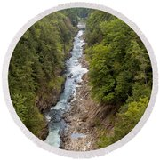 Quechee Gorge State Park Round Beach Towel by John M Bailey