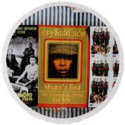 Queen Badu Round Beach Towel