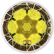 Queen Bee-nectar Of Life Round Beach Towel