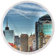 Queen City Downtown Round Beach Towel