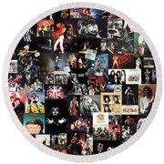 Queen Collage Round Beach Towel