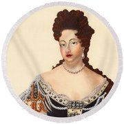Queen Mary  Round Beach Towel
