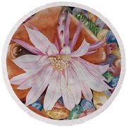 Queen Of The Night I Round Beach Towel