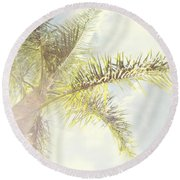 Queen Palm Round Beach Towel by Cindy Garber Iverson