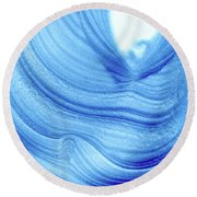 Query Blue 2 Round Beach Towel