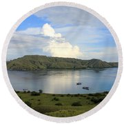Round Beach Towel featuring the photograph Quiet Bay by Sergey Lukashin
