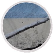 Quiet Beach Round Beach Towel by Photographic Arts And Design Studio