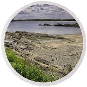 Round Beach Towel featuring the photograph Quiet Cove by Mark Myhaver