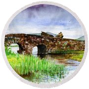 Quiet Man Bridge Ireland Round Beach Towel