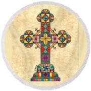 Quilted Cross Round Beach Towel