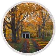 Round Beach Towel featuring the photograph Quivet Morning by Dianne Cowen