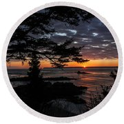 Quoddy Sunrise Round Beach Towel by Marty Saccone