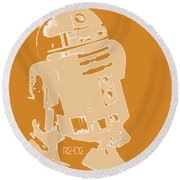 R2d2 Round Beach Towel