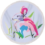 Rabbit - Bunny In Color Round Beach Towel