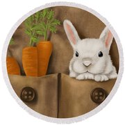 Rabbit Hole Round Beach Towel by Veronica Minozzi