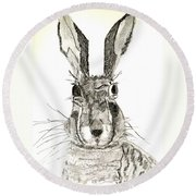 Rabbit Round Beach Towel