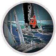 Races 3 Round Beach Towel