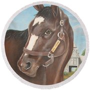 Rachel Alexandra At Stonestreet Farms Round Beach Towel